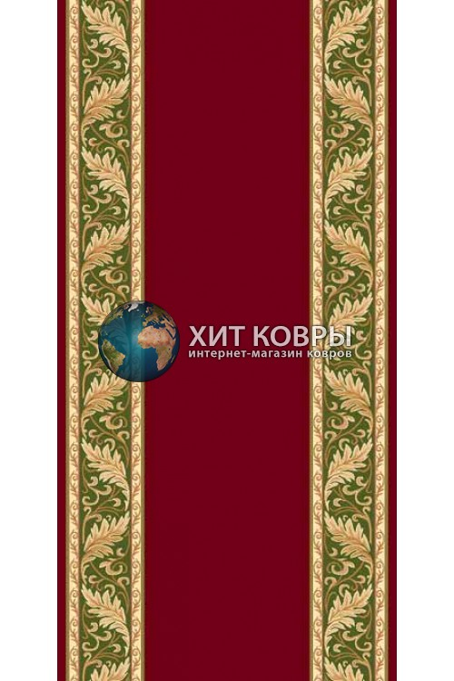 ковер в комнату кремлевский d040 красный зеленый