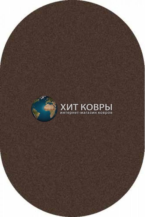 Российский ковер  овальный Platinum t600 коричневый