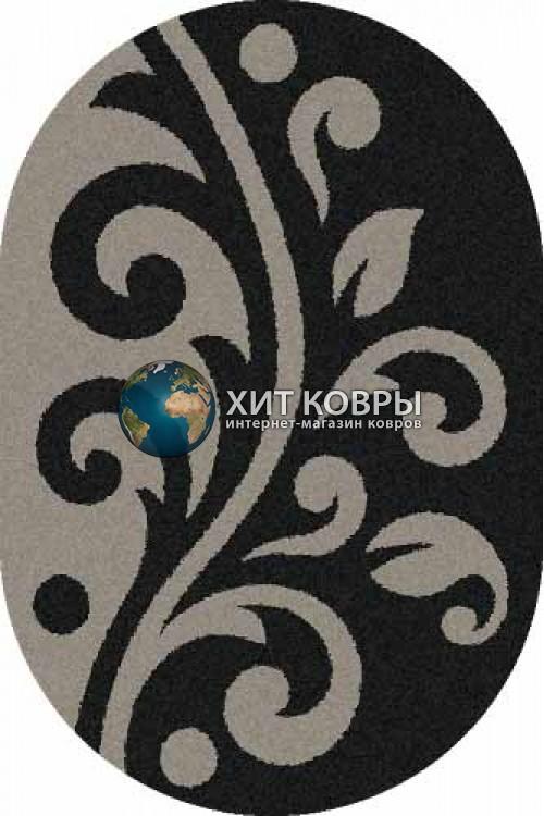 Российский ковер  овальный Platinum t621 черный