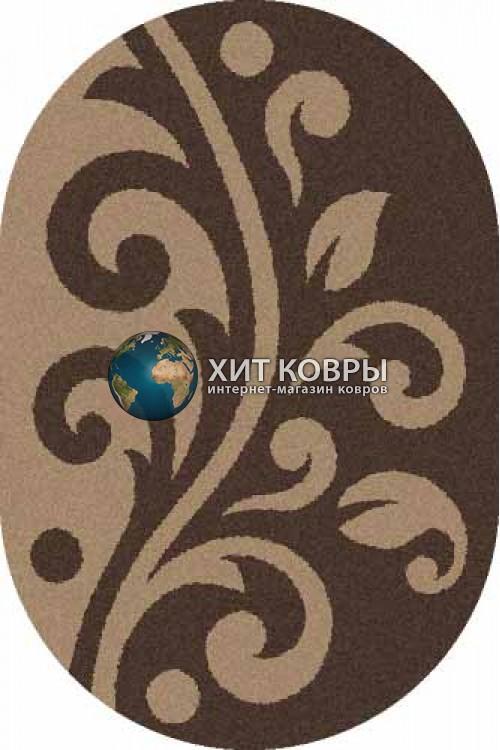 Российский ковер  овальный Platinum t621 коричневый