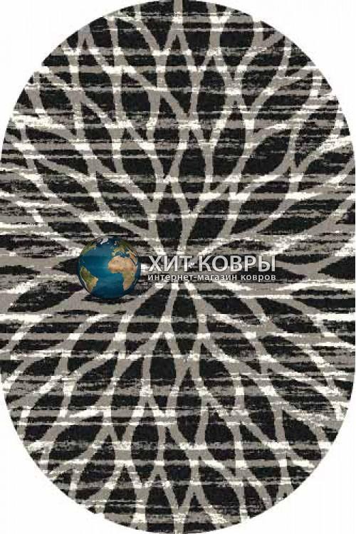 Российский ковер  овальный Platinum t626 черный серый