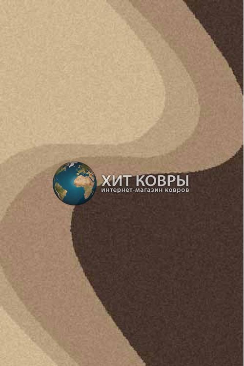 Российский ковер прямоугольный Platinum t616 бежевый коричневый