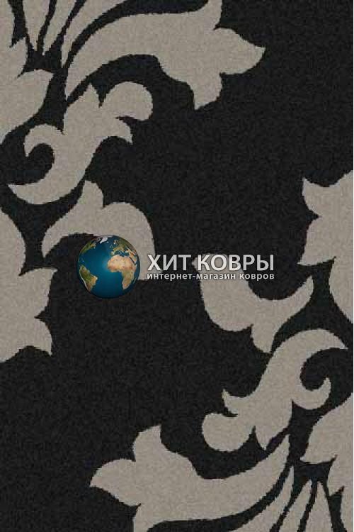 Российский ковер прямоугольный Platinum t620 черный серый